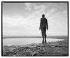 Crosby_Beach-3 (D_M_J) Tags: crosby beach sand antony gormley sculpture another place landscape uk north west england coast film camera medium format 120 roll 6x7 mamiya rb67 pro sd ilford delta 100 kodak hc110 epson v850 vuescan black white bw blackandwhite mono monochrome