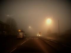 Slow (I line photography) Tags: mist misty foggy fog street road roadmarkings churchstreet vehicles streetsigns ilinephotography petephillips