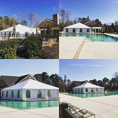 Gonna be a cold rainy weekend. So we came to the rescue of our customers. 40x40 tent with sidewalls and heater. (Venue Services) Tags: instagram venue services event rental salisbury nc wedding corporate rentals party tents tables plus chairs linens place settting