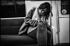Oedo Line, Metro, Tōkyō (GioMagPhotographer) Tags: tōkyōto ricohgr metrotrain girl metro peopleclose eastofthesun japanproject japan subway tokyo tkyto underground