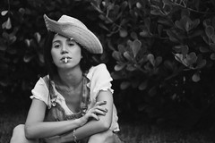 Pri (TheJennire) Tags: photography fotografia foto photo canon camera camara colours colores cores light luz young tumblr indie teen blackandwhite people portrait starwhat hat summer fashion style naturallight 50mm 2018 girl cigarette smoking overall nature