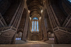 Liverpool Cathedral, Liverpool, UK (KSAG Photography) Tags: church cathedral city urban religion liverpool merseyside england uk unitedkingdom europe britain nikon wideangle hdr april 2018 architecture history heritage christianity window glass building