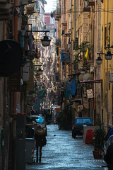 Long Street - Naples, Italy (www.caseyhphoto.com) Tags: d800 europe italy mediterranean naples napoli nikon narrow street nikkor travel traveling traveler traveller travels traveled adventure adventurer adventuring explore explorer exploring tourism tourist holiday vacation artist photography photographer wanderlust wandering architecture architectural italien campania history historic old 1635f40