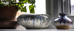 on the window sill ... (HHH Honey) Tags: 22imadethis 118picturesin2018 april amonthin30pictures 8th pots plant macro glaze pottery handmade stilllife a7ii α7ii