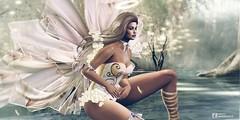 Millones de criaturas espirituales caminan sobre la tierra invisibles, tanto cuando estamos despiertos como cuando dormimos. John Milton, El paraíso perdido. (pattybartavelle) Tags: irrisistible fantasy shop swank event angel fairy spring outfit clothes costume fancy women woman applier mesh dress shoes hairs maitreya belleza slink hourglass sl second life secondlife design fashion roleplay rp