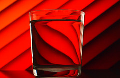 Water distortion (StartToFigureItOut) Tags: experiments water glass diagonal stripes lines distorted flipped reversed warp cooph