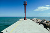 Cervia (lorenzog.) Tags: cervia beach beachlife spring lowseason path pathway rivieraromagnola emiliaromagna italy blue sky clouds canon molo dock marina marinadicervia lighthouse faro