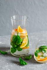 infused basil orange  water... (sonja-ksu) Tags: food infused basil orange water lemonade cooler drink foodphotography