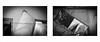 (赤いミルク) Tags: 二重 フィート 足 床材 diptych monochrome lomo digital