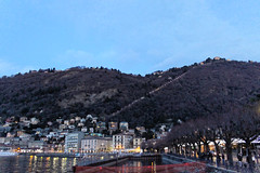Winter Nights (HungryArtistMadCow) Tags: winter 2017 como italy milan lago di lake lakeside cathedral town centre lights lasers lightshow beautiful water ship dock fair hills valley