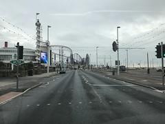 Blackpool Delivery (Paul.Bevan) Tags: blackpool seafront outofseason veryquiet weekday southshore seaside theroad streetlamps highway greysky
