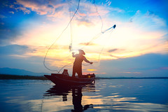 Silhouette fisherman throwing fishing net during sunrise (Patrick Foto ;)) Tags: action active asia asian background boat burma cambodia catch environment evening farmer fish fisherman fishermen fishing indonesia lake laos life lifestyle light man morning myanmar nature net orange outdoor peaceful people person poor reflection river sea silhouette sky sun sunrise sunset thai thailand tradition traditional tranquil tropical vietnam water working tambonbangphra changwatchonburi th