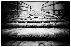 stairway to heaven? (fotoquotidian) Tags: eisenbahnübergang kreuzlingen schnee treppe ese7074b nikond4 fotoquotidian stairway