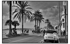 Menton Street morning (photoflieger) Tags: france frankreich coteaazure street beach blackwhite fuji xt1 1855
