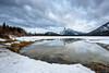 Vermillion Lakes (waynengphotography) Tags: lake frozen vermillionlake banff canada reflection water sky snow