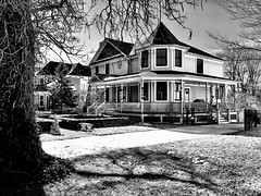 Plymouth, Michigan (Dennis Sparks) Tags: house blackwhite michigan plymouth iphone