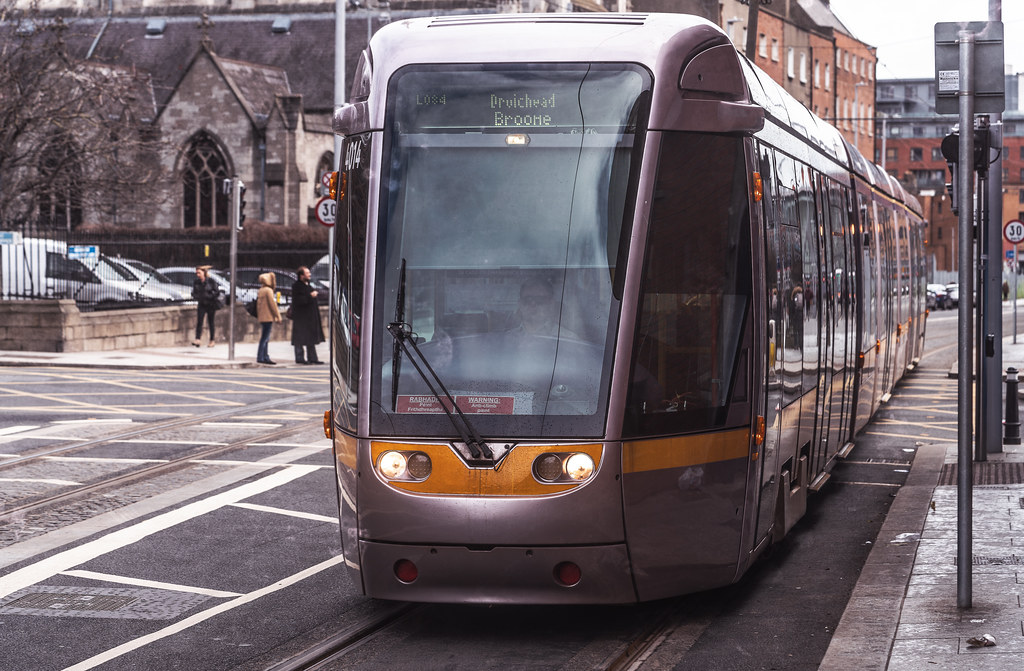 DOMINICK STREET DUBLIN [TRAMS AND TRACKS]-137851