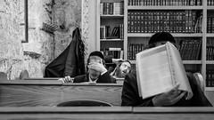 See No Evil (nozsirkinti) Tags: bw white rabbi black blackandwhite jerusalem israel palastine david tomb prayer pray jewish judaism olympus panasonic