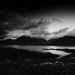 Light Fades (-- Q --) Tags: lochtorridon bendamph applecross scotland scottishhighlands mountains loch hills alligin beinnalligin lee09softgrad lee06softgrad marumidhgcpl qthompson landscape monochrome blackandwhite