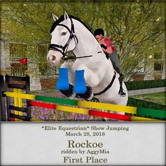 Show Jumping Results, March 25, 2018 (honeyheart1) Tags: sl secondlife jumping jump showjump horse horseback riding horseshow realhorse eliteequestrian silversands