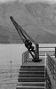 Old harbourside crane in Agaete (Dave Russell (1 million views thanks)) Tags: agaete old machine machinery crane lift port harbor harbour water sea ocean steps coast coastal view scene scenery dock bw black white mono monochrome outdoor grand canaria canary island islands spain spanish mountain cliff shore shoreline