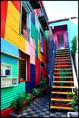 Buenos Aires (makingacross) Tags: buenos aires argentina buenosaires city la boca laboca barrio colour colourful centro cultural de los artistas stairs nikon d3000