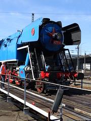 Tschechische 447 043 auf der Drehscheibe (Thomas230660) Tags: dresden eisenbahn dampf dampflok steam steamtrain sony