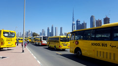 Dubaï - High in the sky (Max's.Adventures) Tags: yellow dubaï dubai school sky burj khalifa marriott walk
