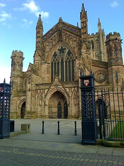 Photo2301 (southglosguytwo) Tags: 2018 city clouds hereford march sky gates cathedral