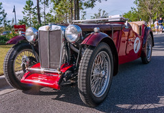 1949 MG TC Special (Harold Brown) Tags: 1949 automobile car carshow convertible darkred fall florida headlights mg maroon morning outdoor roadster sky sonynex6 special stjohnscounty tc transportation usa vehicle amenitycenter bhagavideocom clouds fl haroldbrowncom harolddashbrowncom masterplannedcommunity photosbhagavideocom rivertown rivertowncarshow stjohns haroldbrown