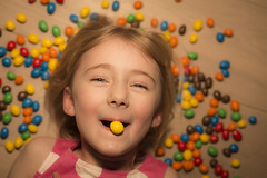 Yana and M&M's (Erroba) Tags: canon 5d markiii mm child portrait candy girl