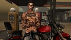 Lone Wolf (AW02) Tags: sl secondlife photography avatar style feelings emotions mesh tattoo prodigyink 7prodigy stealthic straydog signature