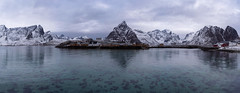 Lofoten Hamnoy Panorama (Bliss Photo) Tags: island lofoten norway winter