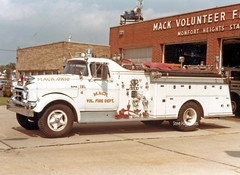 Mack OH   1957 GMC/American Pumper (kyfireenginephoto) Tags: cincinnati truck 1957 oh monfort heights fire mfd green township american delhi engine colerain ohio gmc