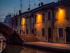 Comacchio, Italy (Mia Battaglia photography) Tags: village water nightscape night hdr comacchio italy camera:model=penf camera:make=olympus exif:make=olympus exif:model=penf exif:isospeed=500 exif:focallength=45mm exif:aperture=ƒ20 exif:lens=olympusm45mmf18 bluehour
