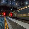 Night movement (OzzRod (on the road again)) Tags: pentax q 08widezoom movement blur train railway signals tracks newcastle
