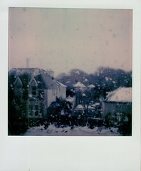 Snowy Evening (ifleming) Tags: itypecolourfilm onestep2 polaroidoriginals snow falmouth