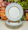 Tiffany & Co. Grosvenor Porcelain Plates ~ Blue Gray Scrolls Gold (Donna's Collectables) Tags: tiffany co grosvenor porcelain plates ~ blue gray scrolls gold