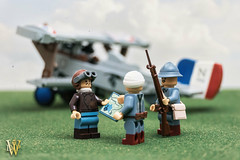 Cachy, France April 1916 (Dread Pirate Wesley) Tags: lego airplane biplane sesquiplane french france western front moc creation wwi world war one cachy