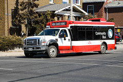 TTC Community Bus 404 (Can Pac Swire) Tags: 2018aimg9819 ttc toronto ontario canada canadian community bus shuttle route 404 coxwell avenue ave transit commission ford f450 w104