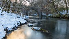 Holne Bridge Winter (www.neilporterphotography.com) Tags: holne bridge winter snow river dart dartmoor ashburton