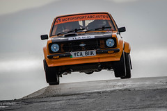 High Flyer (Howie Mudge LRPS BPE1*) Tags: rally car vehicle motor motorsports motorcar rallycar fast action movement speed race racer racing outside outdoors wet rain overcast cloudy day tracmon anglesey wales cymru uk canon canon7dmkii sigma sigma150600mmc