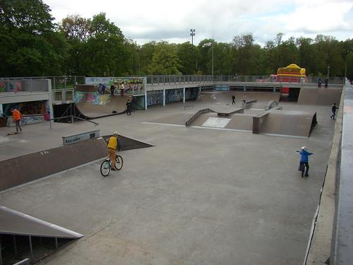 Скейт-парк на набережной Верхнего пруда