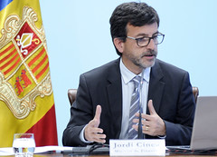 Roda de premsa.Liquidació pressupostaria.03-04-2018 (Govern d'Andorra) Tags: premsa finances cinca liquidació pressupost