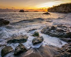 Peaceful Observations (Calpastor) Tags: ocean sea seascape coast coastline water pacific california beach sand rocks waves tides surf peace joy sunset travel vacation landscapes