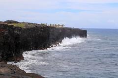 Waves Slam the Lava Coastline (Ken S Three) Tags: hawaii hawaiivolcanoesnationalpark hvnp island thebigisland lava coast waves