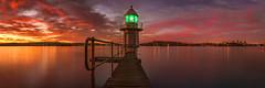 Bradley's Head Lighthouse (Ray Jennings AU) Tags: nikond810 panorama bradleyshead sydneyharbour sunrise lighthouse rayjennings longexposure