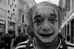 Pantomime (K.BERKİN) Tags: antique eye turkey tourism human oldman people portrait pantomime alpha street streetphoto streetphotograpy homeless life leica blackwhite istanbul city beyoglu mirroless performer