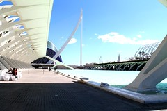 Sunny day in Valencia (elizabeth_melissa) Tags: valencia voyage landscape love comment color city science art elizabeth experience new panoramic photo myphoto people shoot street spain espana fallinlove sky blue white