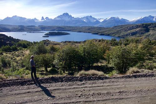 chile-patagonia-aysen-cerro-castillo-camilo-looking-at-view-across-lake